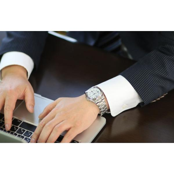ソーラ電波腕時計 メンズ シチズン アナログ 薄い 軽い 薄型 軽量 メタルバンド 日付 電波時計 電波ソーラー腕時計 男性用 紳士用 時刻合わせ不要 62419|wide|15