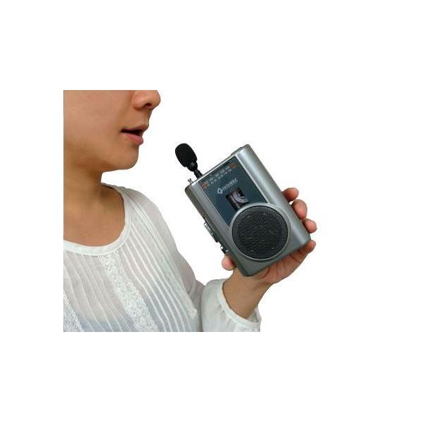 ラジカセ コンパクト レトロ 録音 カセットテープ テープ カセット グッドラジカセ FMラジオ マイク付き カラオケ 録音 備忘録 携帯カセットプレーヤー|wide|03