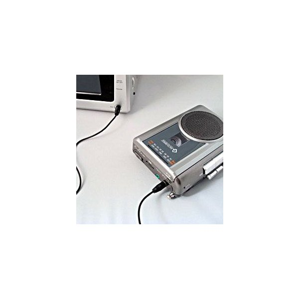 ラジカセ コンパクト レトロ 録音 カセットテープ テープ カセット グッドラジカセ FMラジオ マイク付き カラオケ 録音 備忘録 携帯カセットプレーヤー|wide|05