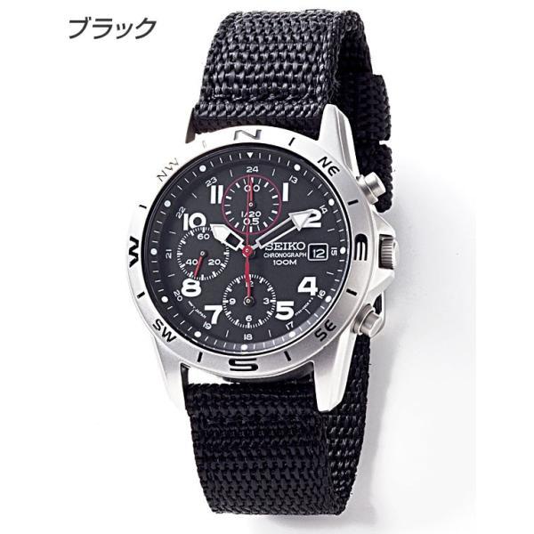 セイコー 腕時計 クロノグラフ 逆輸入 メッシュバンド ナイロンバンド 10気圧防水 ミリタリーウォッチ SEIKO アナログ 腕時計 海外モデル アウトドア 新品 wide 09