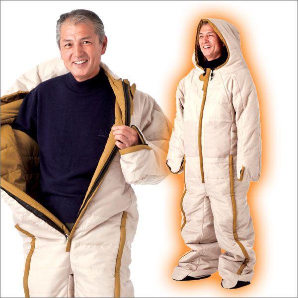 寝袋 人形寝袋 冬 秋 車中泊 アウトドア 動ける寝袋 動けるあったか寝袋 人型シュラフ 着る寝袋 人型 冬用 防寒 専用収納バッグ付き 74300|wide