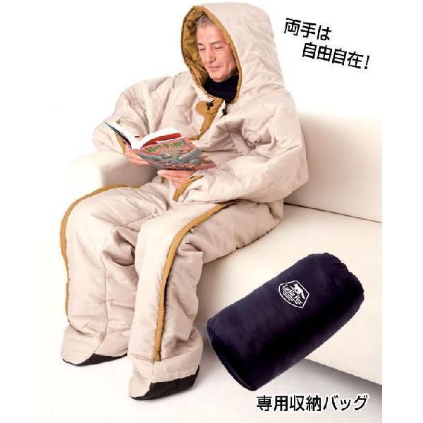 寝袋 人形寝袋 冬 秋 車中泊 アウトドア 動ける寝袋 動けるあったか寝袋 人型シュラフ 着る寝袋 人型 冬用 防寒 専用収納バッグ付き 74300|wide|02