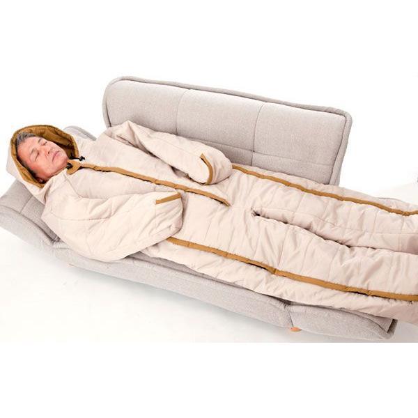 寝袋 人形寝袋 冬 秋 車中泊 アウトドア 動ける寝袋 動けるあったか寝袋 人型シュラフ 着る寝袋 人型 冬用 防寒 専用収納バッグ付き 74300|wide|03