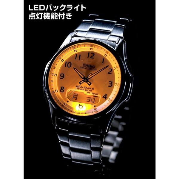 腕時計 メンズ 電波ソーラー カシオ アナログ 薄型 見やすい おしゃれ 男性用 紳士 日付 曜日 軽い 薄い ブランド CASIO じゅん散歩 ロッピング|wide|06