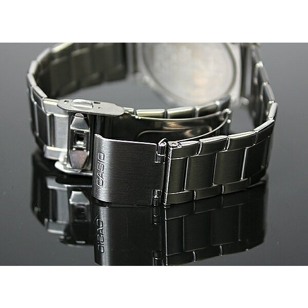 腕時計 メンズ 電波ソーラー カシオ アナログ 薄型 見やすい おしゃれ 男性用 紳士 日付 曜日 軽い 薄い ブランド CASIO じゅん散歩 ロッピング|wide|08