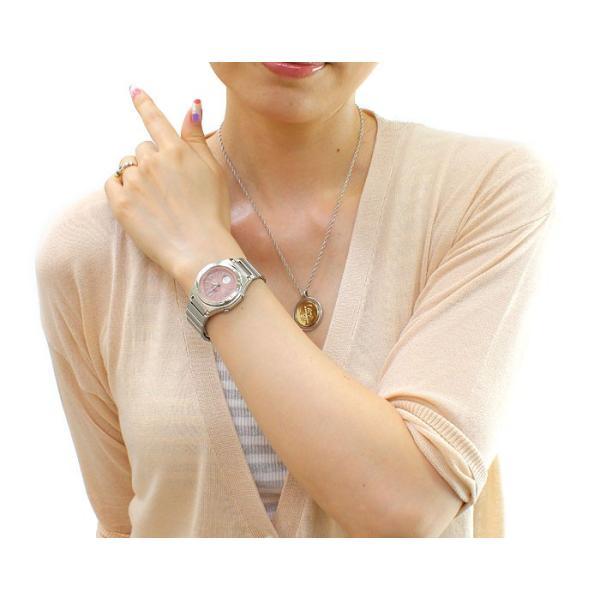 ソーラー電波腕時計 レディース カシオ おしゃれ バックライト メタルバンド 軽量 軽い 薄型 薄い 女性用 電波ソーラー腕時計 婦人用 ブランド カシオ腕時計|wide|08