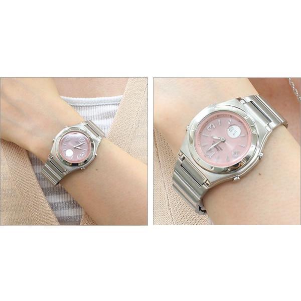 ソーラー電波腕時計 レディース カシオ おしゃれ バックライト メタルバンド 軽量 軽い 薄型 薄い 女性用 電波ソーラー腕時計 婦人用 ブランド カシオ腕時計|wide|09