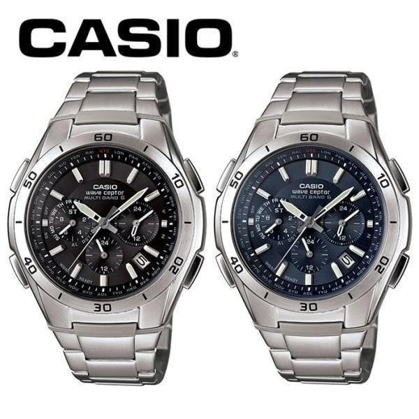 腕時計 メンズ 電波ソーラー クロノグラフ カシオ ソーラー電波腕時計 アナログ プレゼント 電波時計 ワールドタイム 世界電波 ブランド|wide|02