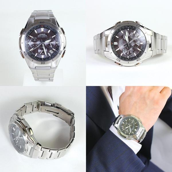 腕時計 メンズ 電波ソーラー クロノグラフ カシオ ソーラー電波腕時計 アナログ プレゼント 電波時計 ワールドタイム 世界電波 ブランド|wide|05