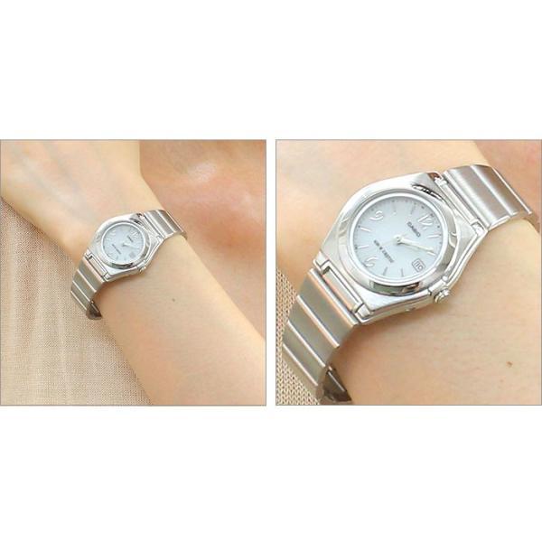 腕時計 レディース 電波ソーラー 薄型 アナログ 見やすい おしゃれ 女性用 社会人 婦人 カシオ腕時計 薄い 軽い 細い 電波時計 ブランド CASIO|wide|03