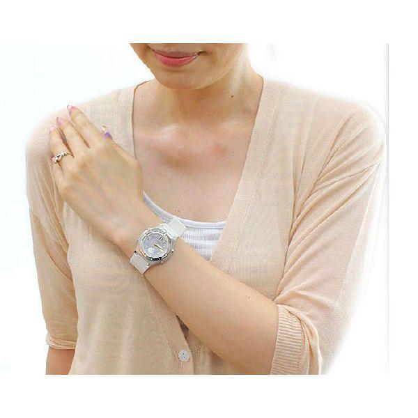 ソーラー電波腕時計 レディース 夏用 カシオ 軽い 軽量 25g ラバーベルト おしゃれ カシオ腕時計 アナログ かわいい 女性用 婦人用 電波ソーラー|wide|04