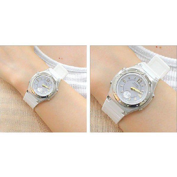 ソーラー電波腕時計 レディース 夏用 カシオ 軽い 軽量 25g ラバーベルト おしゃれ カシオ腕時計 アナログ かわいい 女性用 婦人用 電波ソーラー|wide|05