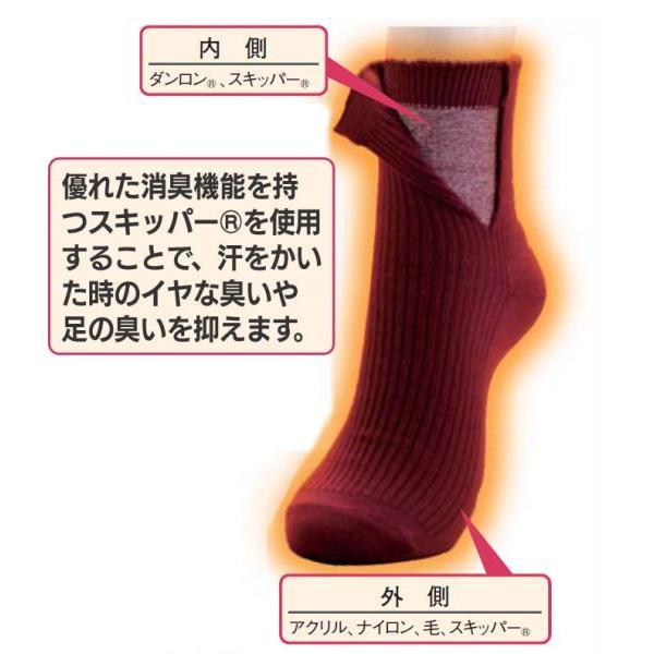靴下 メンズ 二重 ソックス 冷え取り靴下 冷え性 足 暖かい ひだまり ダブルソックス 3色 セット あったか靴下 紳士用 男性用靴下 消臭|wide|02