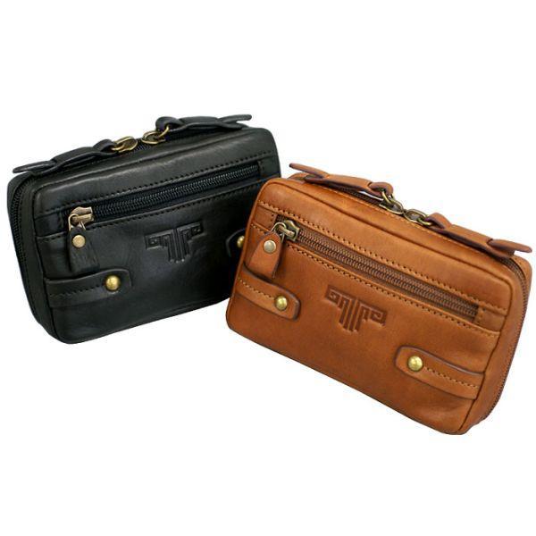 鞄 バッグ 革 メンズ ミラグロ USA製オイルドレザースマートベルトポーチ