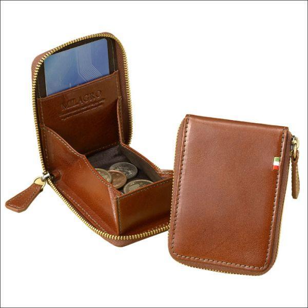 ミラグロ イタリアンレザー仕様オイルドレザー財布