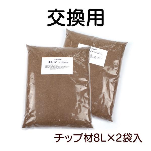 生ごみ処理機 生ゴミ 基本セット ルカエル 交換用 エコパワーチップ 8W【8L×2袋】ECS-121型 自然にカエルS対応|wide