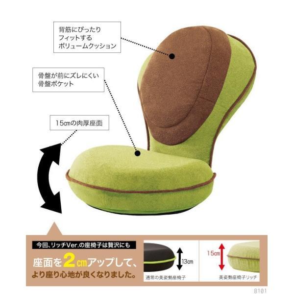 座椅子 腰痛 美姿勢座椅子 猫背 リッチ Rich 洗える 低反発クッション 姿勢 背もたれ 骨盤矯正 椅子 背筋がGUUUN グーン カバーが取り外せる|wide|11