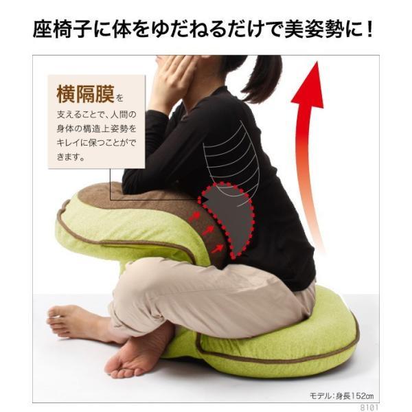 座椅子 腰痛 美姿勢座椅子 猫背 リッチ Rich 洗える 低反発クッション 姿勢 背もたれ 骨盤矯正 椅子 背筋がGUUUN グーン カバーが取り外せる|wide|09