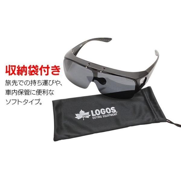 サングラス メンズ 偏光 オーバーサングラス  オーバーグラス ブランド ロゴス 紫外線対策 UVカット99% 跳ね上げ LOGOS ドライブ 釣り 旅行 夜間 ゴルフ 78084|wide|10