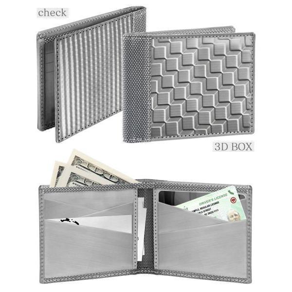 スキミング防止 財布 二つ折り財布 防犯 メンズ  軽量 軽い カードケース 鉄製 ステンレススチール製  スチュワートスタンド レディース 男女兼用 wide 04