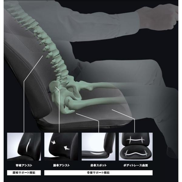 スタイルドライブ MTG 車用 腰痛 車 クッション 座椅子 運転中 ボディメイクシートスタイル 骨盤矯正 健康 椅子 Style Drive 姿勢矯正|wide|06