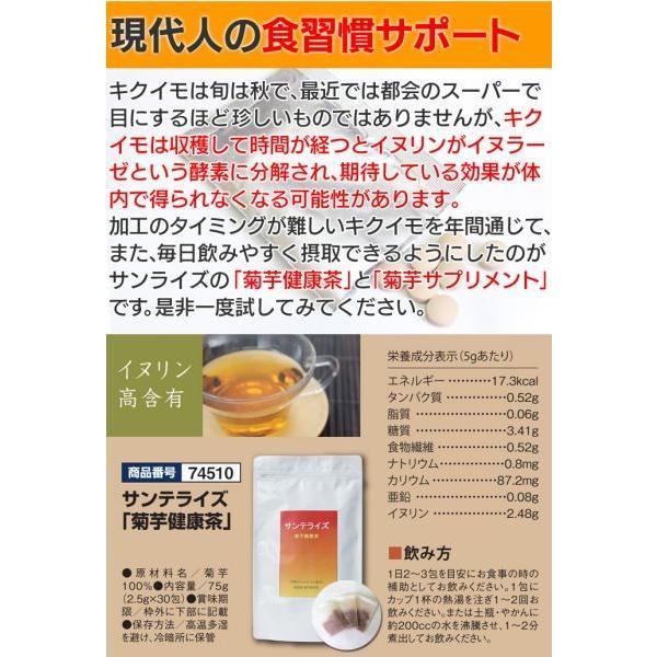 菊芋茶 キクイモ茶 サンテライズ お茶 健康茶 30パック 30包 ティーバッグ 菊芋100% 無添加 焙煎 焙煎茶 イヌリン イヌリン含有 ノンカフェイン 正規販売店|wide|05