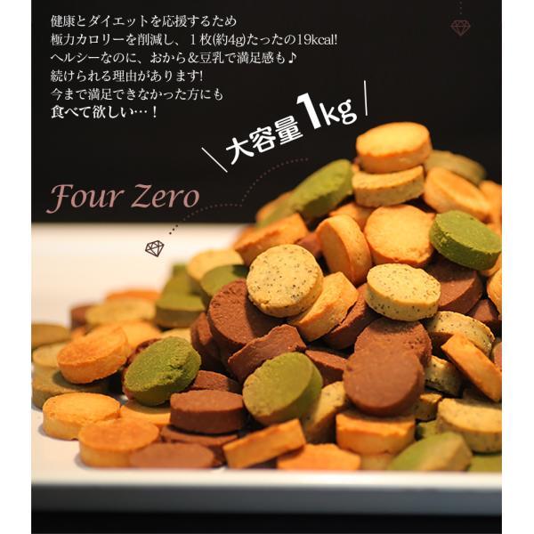 ダイエット食品 おからクッキー 1kg 小麦粉不使用 砂糖不使用 グルテンフリー 糖質制限 訳あり 国産 4種 1kg|wide|03