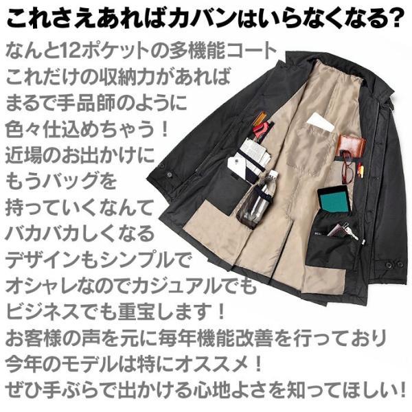 中綿コート メンズ 男性用 紳士用 コート 大きい ポケットいっぱい おしゃれ シンプル ビジネス  ブルゾン 暖かい 中綿ジャケット 77146 秋冬|wide|04