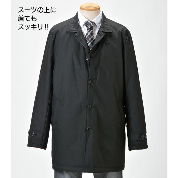 中綿コート メンズ 男性用 紳士用 コート 大きい ポケットいっぱい おしゃれ シンプル ビジネス  ブルゾン 暖かい 中綿ジャケット 77146 秋冬|wide|10
