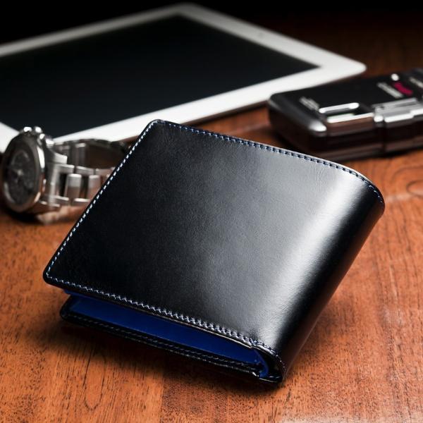 財布 メンズ 二つ折り 本革 レザー 革 小銭入れ コインケース 大容量 名入れ プレゼント wide 15