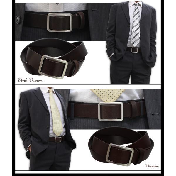 無段階調整 ベルト メンズ 穴なし 穴無し 幅広 無調整 無段階 紳士 男性 ブラック ブラウン スライド式 本革 レザー 黒 茶色 77405-20 wide 05