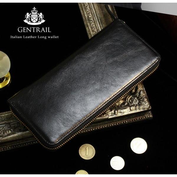 長財布 メンズ カードがたくさん入る 大容量 使いやすい ガバッと開く 本革 スリム 財布 ラウンドファスナー ジェントレイル お札が折れない ギャルソン財布|wide|05