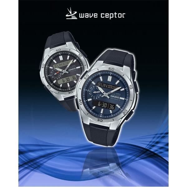 腕時計 メンズ 電波ソーラー デジアナ アナログ デジタル カシオ 軽量 軽い ラバーバンド ゴムバンド ウレタンバンド 日付|wide|02