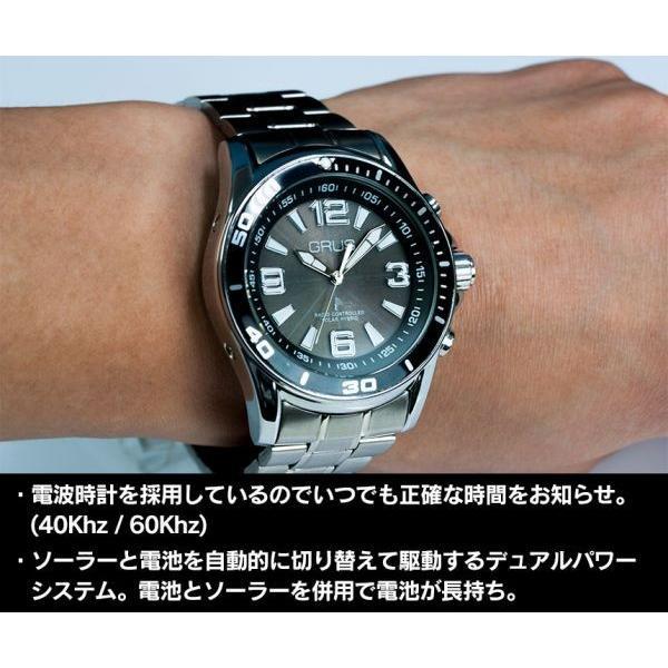 腕時計 メンズ 電波ソーラー 音声認識 時刻 新生活 プレゼント 父の日 アナログ シンプル 音声腕時計 アナウンス レディース 男女兼用 グルス ビジネス wide 04