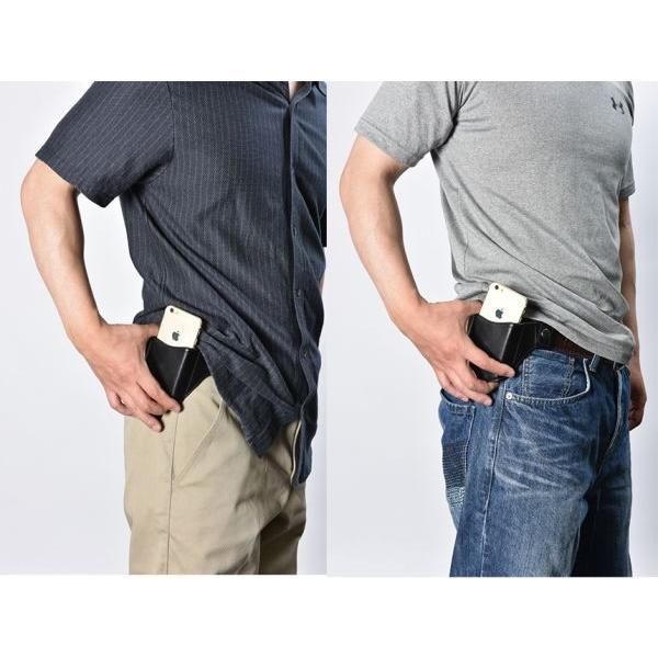 ホルスター ベルトポーチ スマホケース iPhone 本革 レザー 革 ガンタイプ 携帯入れポーチ 小型 プレゼント 50代 60代 70代 ギフト 収納 wide 02