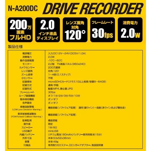 あおり運転対策 ドライブレコーダー 駐車監視 警告機能付き 追突防止 車線はみ出し防止 車載 カメラ 駐車監視 12V 24V 動体検知 Gセンサー フルHD wide 08