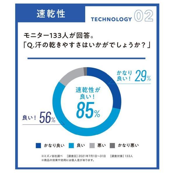 冷感インナー メンズ ミズノ アイスタッチスーパークール 夏用 半袖 接触涼感 ナイロン100% Vネック Tシャツ 気化熱 無地 吸汗 速乾 夏用下着|wide|05