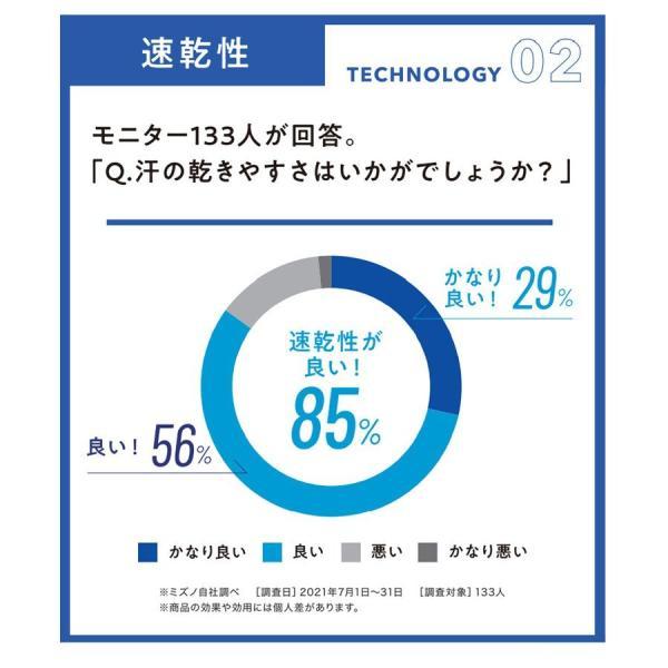 冷感インナー レディース 半袖 接触涼感 日本製 ミズノ アイスタッチスーパークール 夏用下着 フレンチスリーブ  Tシャツ 無地 吸汗 速乾|wide|05