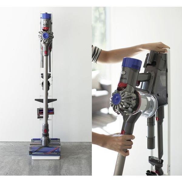 掃除機スタンド クリーナースタンド ダイソン タワー ラック 掃除機台 アタッチメント 収納 充電可能 スリム dyson v6 v7 v8 v10 山崎実業 ヤマザキ tower wide 03