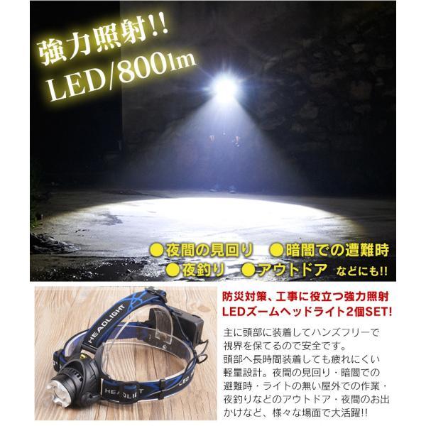 ヘッドライト ヘッドランプ 1個2490円 LEDライト 電池式 頭 明るい 800lm アウトドア キャンプ 登山 釣り 作業灯 防災グッズ 防災用品 非常用 見回り