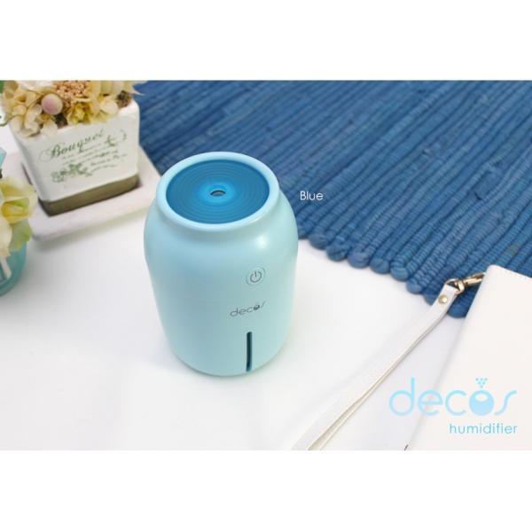 加湿器 USB 卓上加湿器 小型 コンパクト USB加湿器 超音波式 手入れ簡単 decos USB超音波式加湿器 乾燥対策 ミニ  家庭用 オフィス用 静音|wide|05