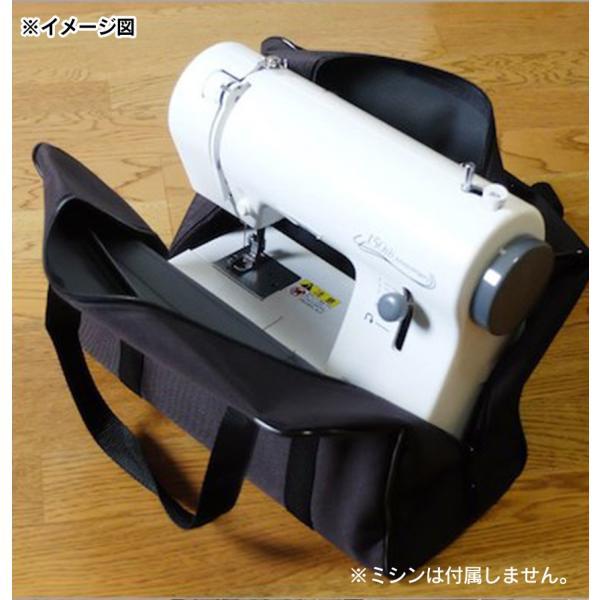 ミシンバッグ 小型ミシン用キャリーバッグ ミシン持ち運び 携帯用バッグ ミシンバッグ 黒 ブラック|wide|03