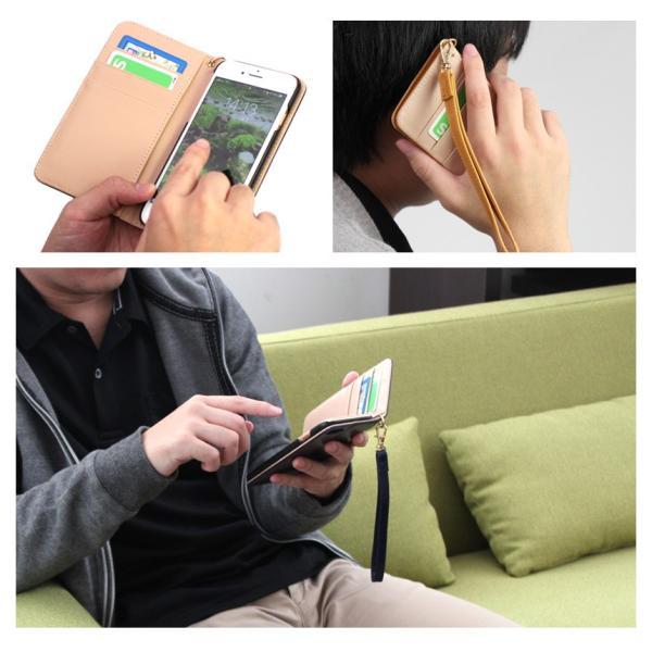 スマホケース 手帳型 iPhone8 iPhone7 本革 レザー 革 ケース おしゃれ マグネット プレゼント|wide|11