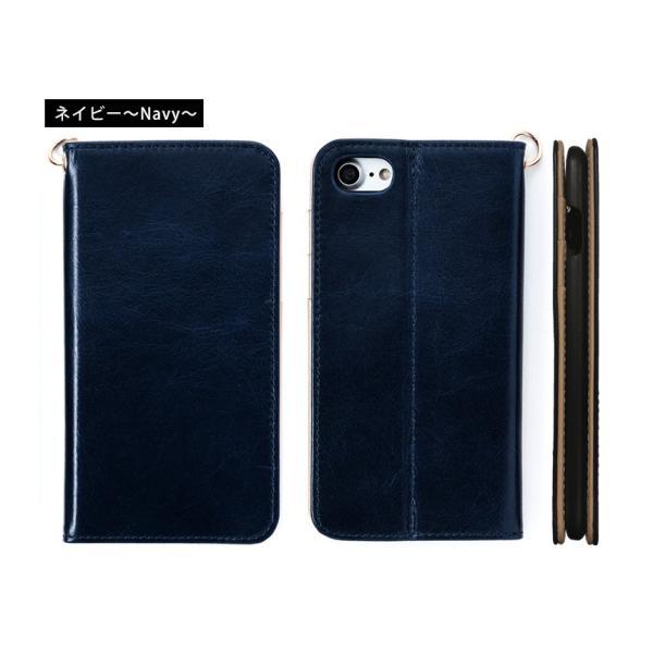 スマホケース 手帳型 iPhone8 iPhone7 本革 レザー 革 ケース おしゃれ マグネット プレゼント|wide|13