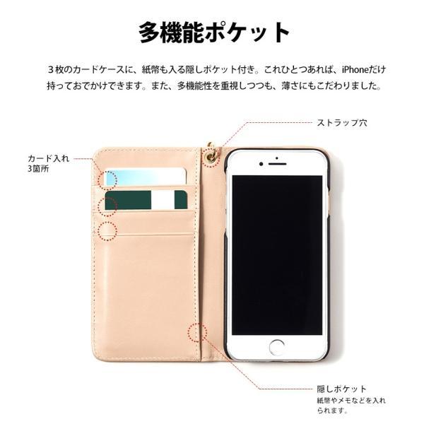 スマホケース 手帳型 iPhone8 iPhone7 本革 レザー 革 ケース おしゃれ マグネット プレゼント|wide|03