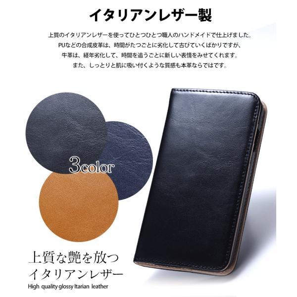 スマホケース 手帳型 iPhone8 iPhone7 本革 レザー 革 ケース おしゃれ マグネット プレゼント|wide|04