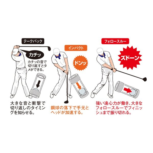 ゴルフ用品 メンズ レディース スイング練習器具 スイング加速器 飛距離アップ ヘッドスピードアップ 練習用 カソッキー KASOKEY|wide|04