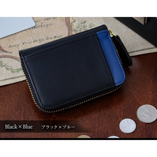 財布 メンズ 小銭入れ コインケース メンズ 大容量 コンパクト 男性用 紳士財布 カードが入る パスケース 革 小型 カーボンレザー ギフト プレゼントに|wide|12