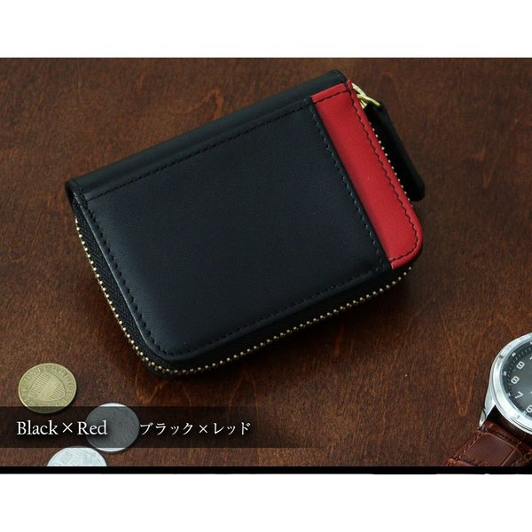 財布 メンズ 小銭入れ コインケース メンズ 大容量 コンパクト 男性用 紳士財布 カードが入る パスケース 革 小型 カーボンレザー ギフト プレゼントに|wide|13