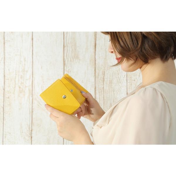 財布 レディース 三つ折り 革 ミニ財布 女性用 婦人用 ミニマリスト 小さい財布 使いやすい カードが入る 小銭入れ ブランド 牛革 レザー ギフト プレゼントに|wide|14